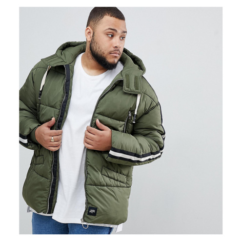 Sixth June puffer jacket in khaki exclusive to ASOS