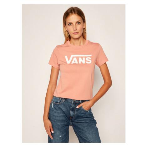Vans T-Shirt Flying V Crew Tee VN0A3UP4 Różowy Regular Fit