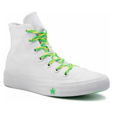 Trampki CONVERSE - Ctas Hi 564123C White/Acid Green/Fresh Yellow