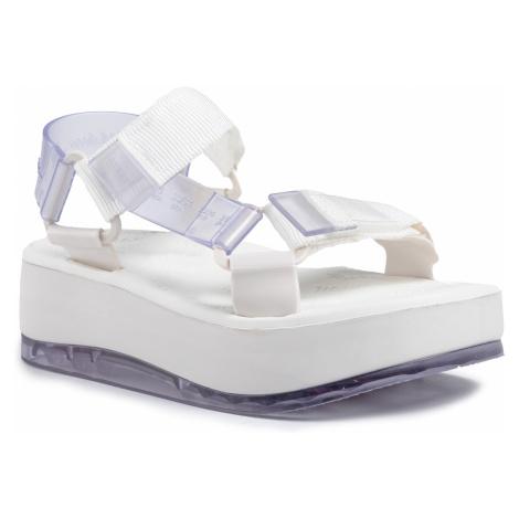 Sandały MELISSA - Papete Platform + Ride 32901 Clear/White 50667