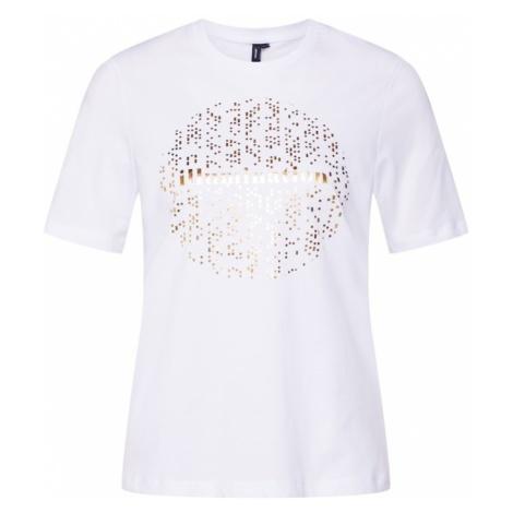 VERO MODA Koszulka 'AMELIA' złoty / biały