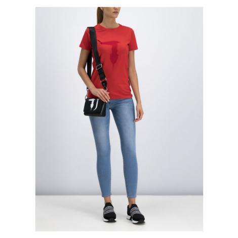 Trussardi Jeans T-Shirt 56T00200 Czerwony Regular Fit