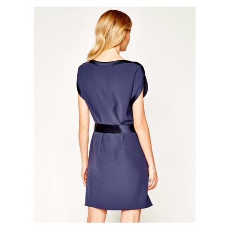 Emporio Armani Sukienka koktajlowa 3H2A67 2NWAZ 0962 Fioletowy Regular Fit