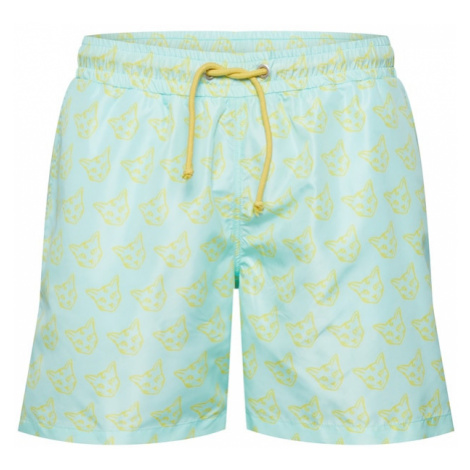 ABOUT YOU X PARI Szorty kąpielowe 'Taylor' turkusowy / żółty