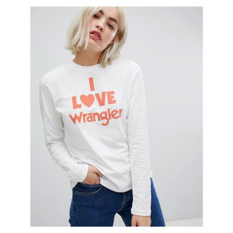 Wrangler love graphic long sleeved t-shirt