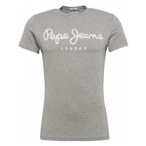 Pepe Jeans Koszulka 'ORIGINAL STRETCH' nakrapiany szary / biały