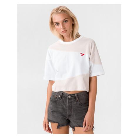 Converse Rivarly Koszulka Biały Beżowy