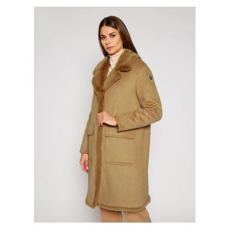 Blauer Płaszcz wełniany Janice 20WBLDK01571 005831 Brązowy Regular Fit