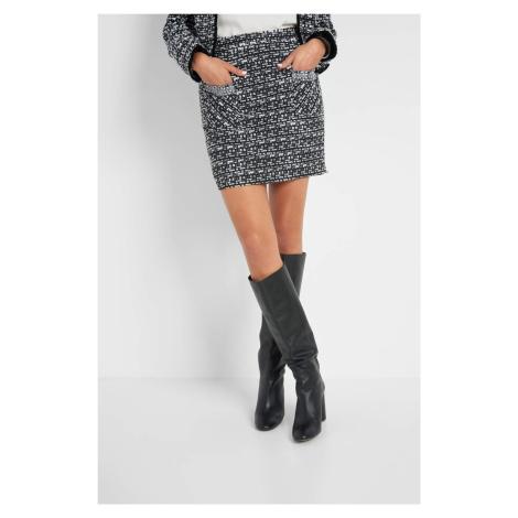 Trapezowa spódnica z tweedu Orsay