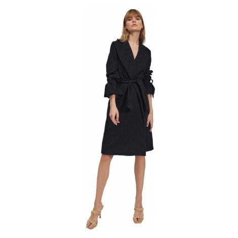 Czarny płaszcz Nife