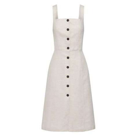 GAP Letnia sukienka 'BTN FRNT DRS LIN' jasny beż
