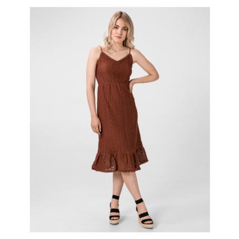 Vero Moda Lea Sukienka Brązowy
