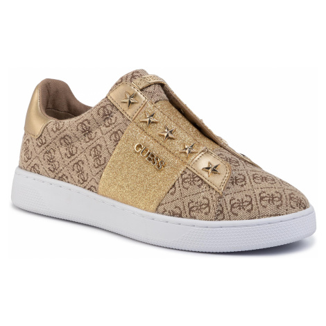 Sneakersy GUESS - Rush2 FL5RS2 FAL12 BEIGE/BROWN