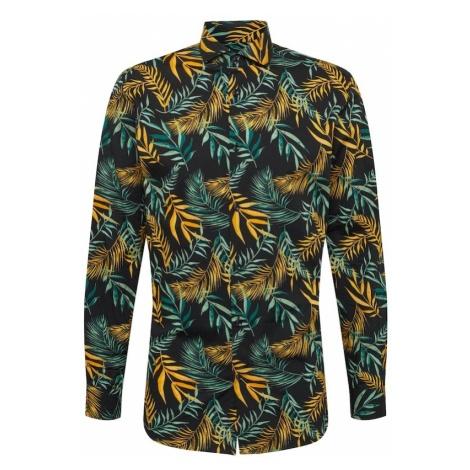 SELECTED HOMME Koszula 'SLHSLIMSEL-WINSTON SHIRT LS AOP B' niebieski / ciemny niebieski / złoty
