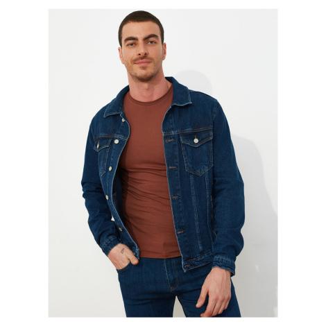 Trendyol niebieski dżinsowa męskie kurtka