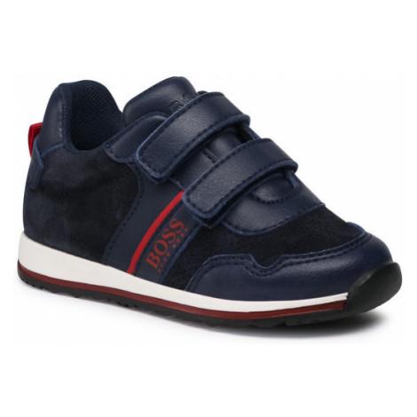 Boss Sneakersy J09148 S Granatowy Hugo Boss