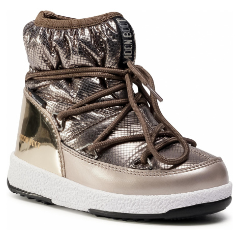 Śniegowce MOON BOOT - Jrgirl Low Nylon Premium Wp 34052300001 M Platinum