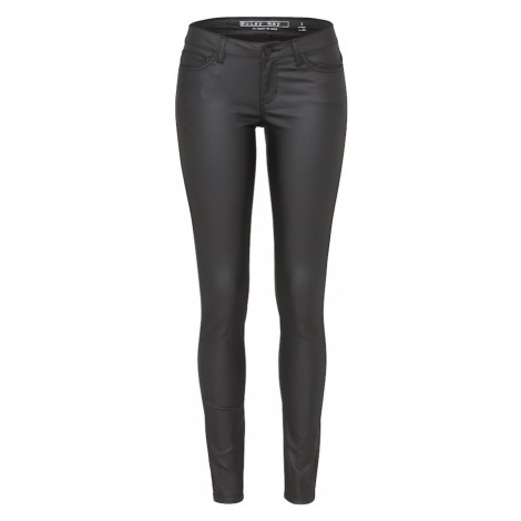 Noisy May Jeansy 'EVE LW DELUXE COATED' schwarz