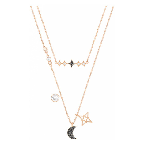 Zestaw naszyjników Swarovski Symbolic z motywem księżyca, wielokolorowy, różnobarwne metale