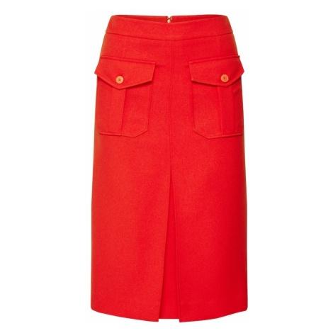 Calvin Klein Spódnica 'UNIFORM TWILL' czerwony