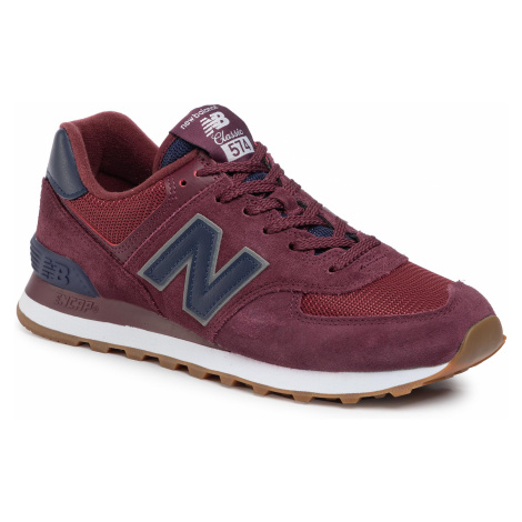 Sneakersy NEW BALANCE - ML574SPQ Bordowy