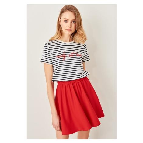 Trendyol Red Mini Knit Skirt