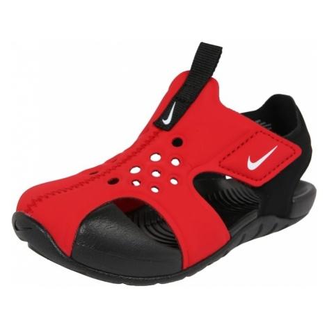 Nike Sportswear Buty otwarte 'Sunray Protect 2 TD' czerwony / czarny