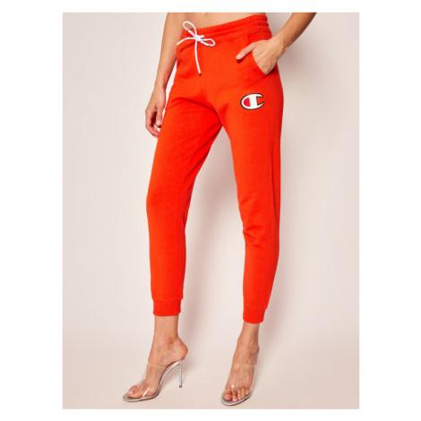 Champion Spodnie dresowe C Logo Ribbed Cuffed 112645 Pomarańczowy Custom Fit