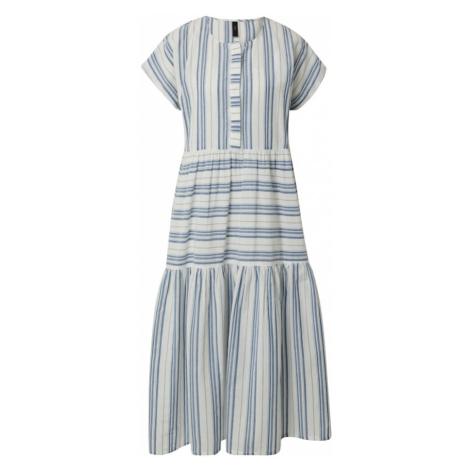 Y.A.S Sukienka 'BREEZA' biały / niebieski denim