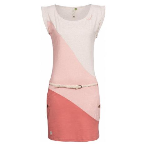 Ragwear Letnia sukienka 'Tag Block Organic' nakrapiany beż / różowy pudrowy / pastelowa czerwień