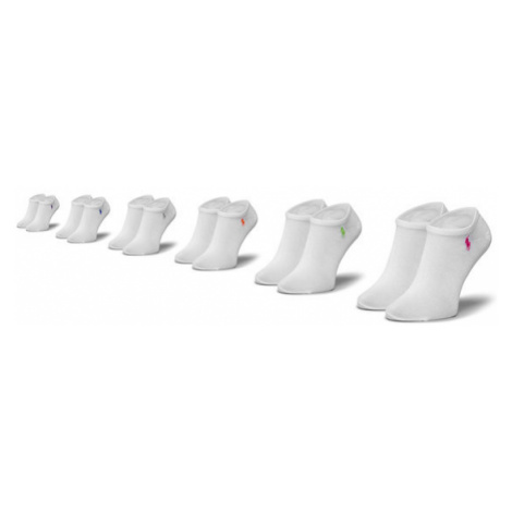 Polo Ralph Lauren Zestaw 6 par niskich skarpet unisex 455747503002 r.OS Biały