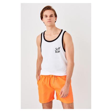 Trendyol Orange Men's Sea Shorts