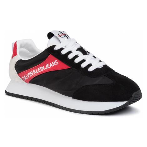Sneakersy CALVIN KLEIN JEANS - Jerrold S0615 Black/Racing Red
