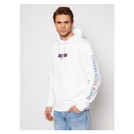 Calvin Klein Jeans Bluza J30J318017 Biały Regular Fit