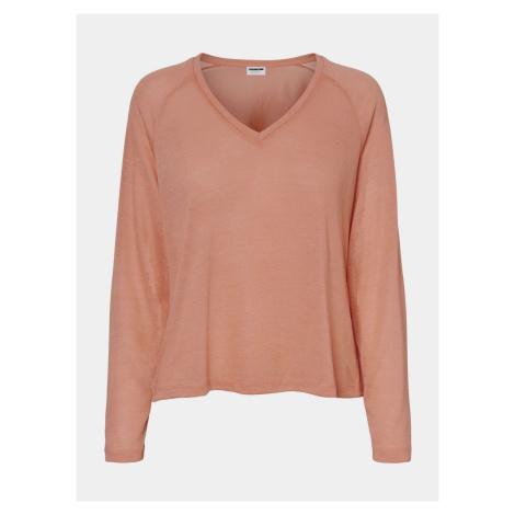 Różowy sweter basic Noisy May Molly