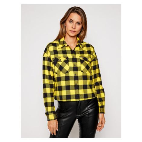Tommy Jeans Koszula Tjw Gingham Check DW0DW08910 Żółty Relaxed Fit Tommy Hilfiger