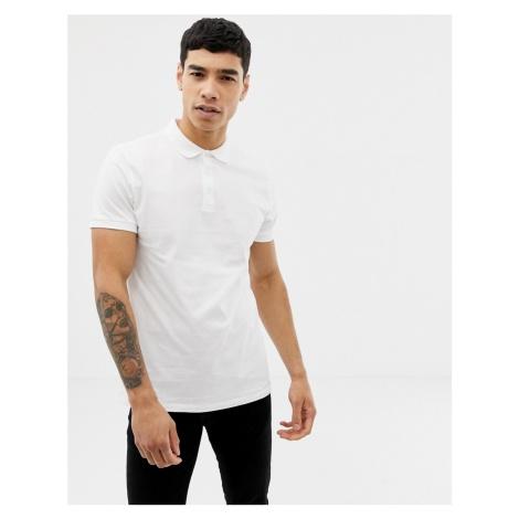 ASOS DESIGN jersey polo in white