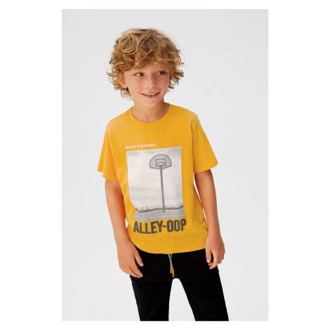 Mango Kids - T-shirt dziecięcy Alley 110-164 cm
