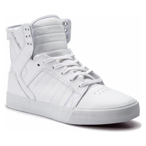 Sneakersy SUPRA - Skytop 08003-149-M White/White/Red