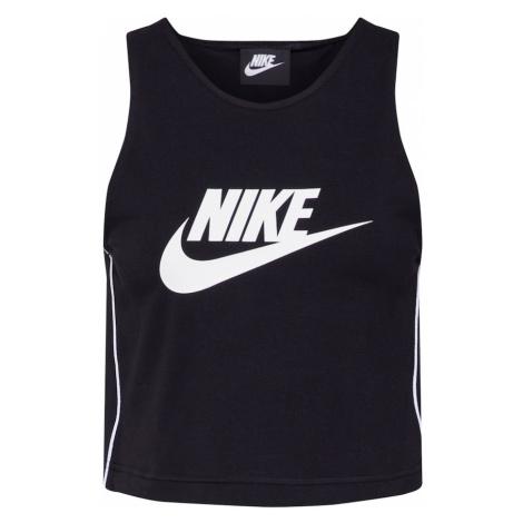 Nike Sportswear Top biały / czarny