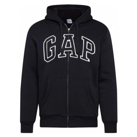 GAP Bluza rozpinana czarny / biały