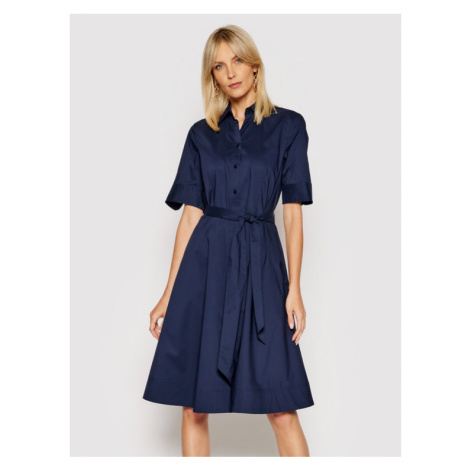 Lauren Ralph Lauren Sukienka koszulowa 200748950004 Granatowy Regular Fit