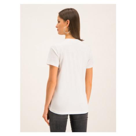 Diesel T-Shirt T-Sily-Wr 00SWP5 0HERA Biały Slim Fit