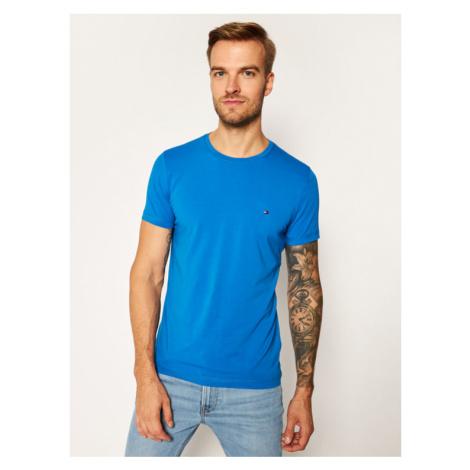 Tommy Hilfiger T-Shirt MW0MW10800 Granatowy Slim Fit