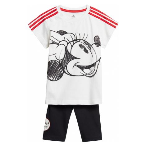 ADIDAS PERFORMANCE Strój sportowy biały / czarny / czerwony