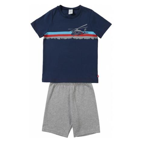 SANETTA Piżama ciemny niebieski / jasnoszary