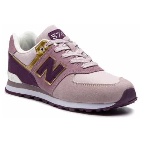 Sneakersy NEW BALANCE - GC574MLG Fioletowy