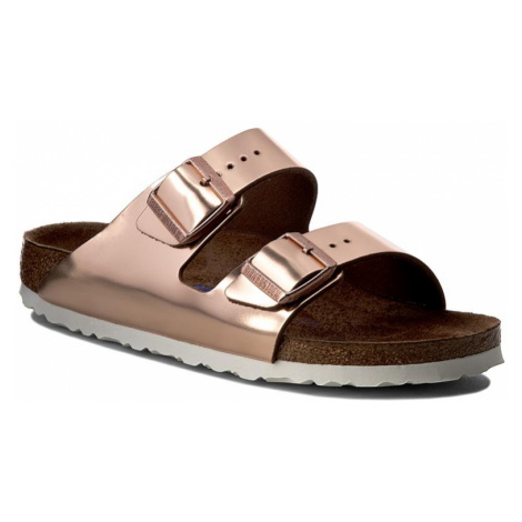 Klapki BIRKENSTOCK - Arizona 0952093 Metallic Copper