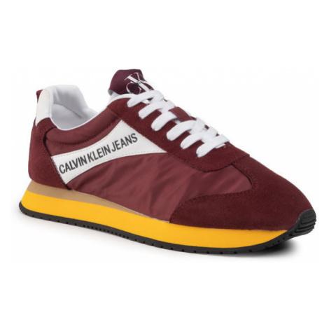 Calvin Klein Jeans Sneakersy Jerrold S0615 Bordowy