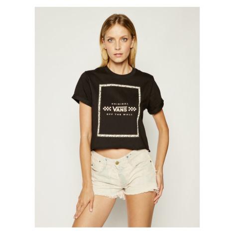 Vans T-Shirt Leila VN0A4CWXBLK Czarny Regular Fit